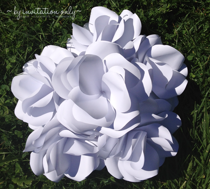 Byinvitationonlydesigns paper roses imagine these as centerpieces on the tables at a wedding reception mightylinksfo